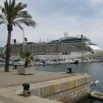 Celebrity Equinox in Port at the Azores