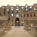 The Roman Colosseum at El Jem