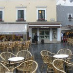 A Deluge in Capri - Trying to Stay Dry at the Piazza Umberto