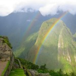 A Double Rainbow at Machu Picchu
