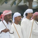 Greeters at the Port of Dubai