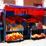 A Fruit Stand at the Otavalo Market