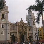 Lima Cathedral at the Plaza Mayor