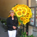 Sunflowers at a Flower Shop in Cortona