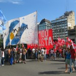Protesters in the Plaza de Mayo