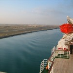 The QE2 in Transit of Suez Canal