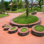Quirky Landscaping at the Lake Palace Hotel