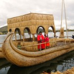 A Reed Boat on Lake Titicaca