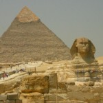 The Sphinx and the Pyramid of Cheops
