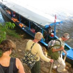 Leaving Tambopata in our Tippy Canoe