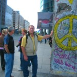A Chuknk of the Historic Berlin Wall near Potsdammer Place