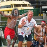 Blending with the Aborigines on the Circular Quay