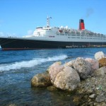 The QE2 Docked in Curacao