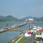 The Miraflores Locks as Seen From Land