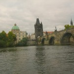 The Old City Gate and the Charles Bridge as seen from the River