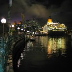 The QE2 Docked at the Circular Quay