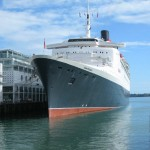 QE2 at her Berth - Auckland