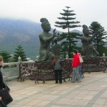At the Shrine on Lantau Island