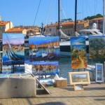 Artwork on Display at the St. Tropez Waterfront