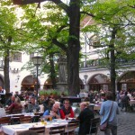 The Beer Garden at the Hofbrauhaus