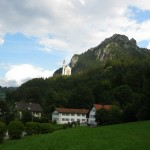 A View of Neuschwanstein from the village of Hohenschwagau