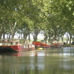 Barges on the Midi Canal