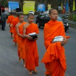 Monks leaving the Seminary