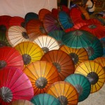 Parasols on Sale in the Night Market in Luang Prabang