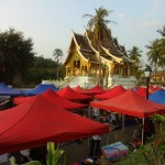 Open Air Markets Surrounding a Temple