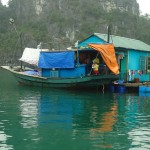 A Floating Village in Halong Bay
