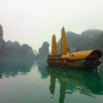 A Sampan in Halong Bay