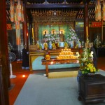 Offerings at the Thien Mu Pagoda Altar
