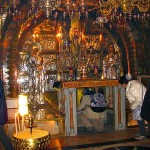 The Altar at the Church of the Holy Sepulchre above the Rock of Golgothat