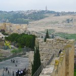 The Mount of Olives as seen from the Old City