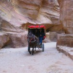 Petra Taxis in the Siq